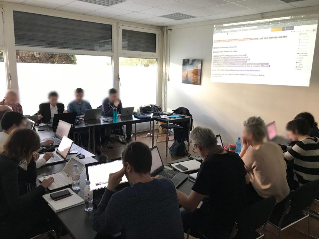 Atelier OSINT OpenFacto à Paris en février 2019
