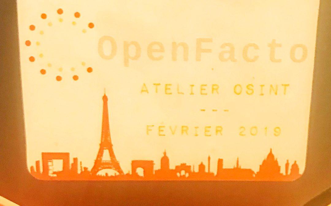 Compte-Rendu du 1er atelier OSINT OpenFacto à Paris (23-24 février 2019)