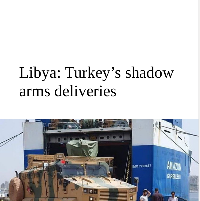 Nouveau rapport par OpenFacto – Turkey's shadow arms deliveries